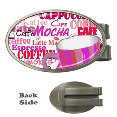 Coffee Cup Lettering Coffee Cup Money Clips (oval)