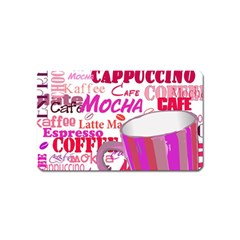 Coffee Cup Lettering Coffee Cup Magnet (name Card)