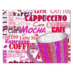 Coffee Cup Lettering Coffee Cup Rectangular Jigsaw Puzzl