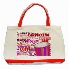 Coffee Cup Lettering Coffee Cup Classic Tote Bag (red)