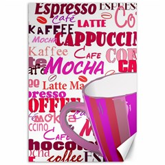 Coffee Cup Lettering Coffee Cup Canvas 12  X 18
