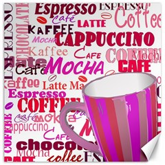 Coffee Cup Lettering Coffee Cup Canvas 16  X 16