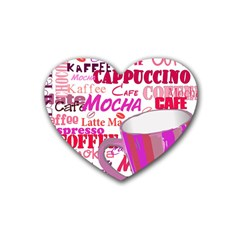 Coffee Cup Lettering Coffee Cup Heart Coaster (4 pack)