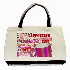 Coffee Cup Lettering Coffee Cup Basic Tote Bag (two Sides)