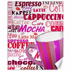 Coffee Cup Lettering Coffee Cup Canvas 11  X 14