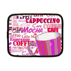 Coffee Cup Lettering Coffee Cup Netbook Case (small)