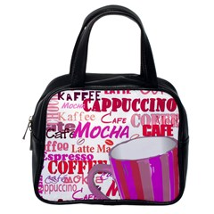 Coffee Cup Lettering Coffee Cup Classic Handbags (One Side)