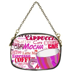 Coffee Cup Lettering Coffee Cup Chain Purses (one Side)