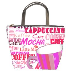 Coffee Cup Lettering Coffee Cup Bucket Bags