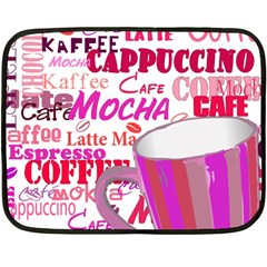 Coffee Cup Lettering Coffee Cup Double Sided Fleece Blanket (mini)