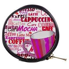 Coffee Cup Lettering Coffee Cup Mini Makeup Bags