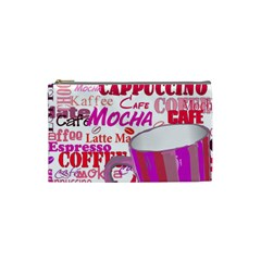 Coffee Cup Lettering Coffee Cup Cosmetic Bag (small)
