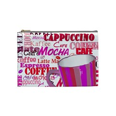 Coffee Cup Lettering Coffee Cup Cosmetic Bag (medium)