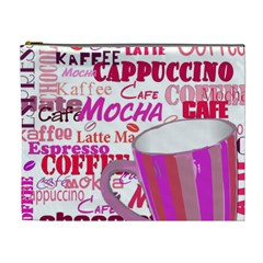 Coffee Cup Lettering Coffee Cup Cosmetic Bag (xl)