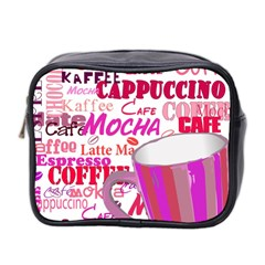 Coffee Cup Lettering Coffee Cup Mini Toiletries Bag 2 Side