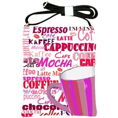 Coffee Cup Lettering Coffee Cup Shoulder Sling Bags