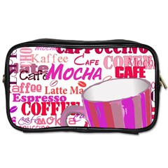 Coffee Cup Lettering Coffee Cup Toiletries Bags 2 Side