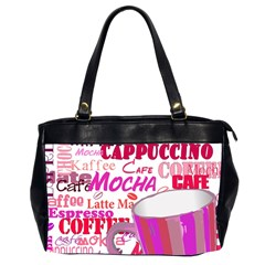 Coffee Cup Lettering Coffee Cup Office Handbags (2 Sides)