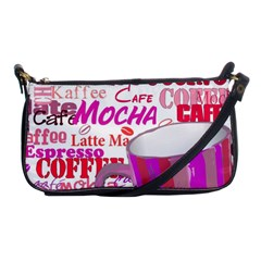 Coffee Cup Lettering Coffee Cup Shoulder Clutch Bags