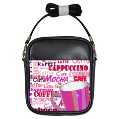 Coffee Cup Lettering Coffee Cup Girls Sling Bags