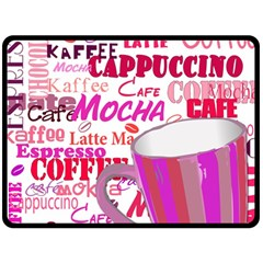Coffee Cup Lettering Coffee Cup Fleece Blanket (large)