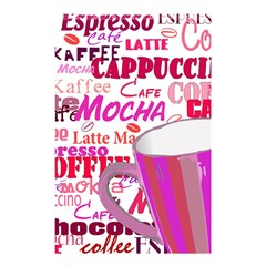 Coffee Cup Lettering Coffee Cup Shower Curtain 48  X 72  (small)