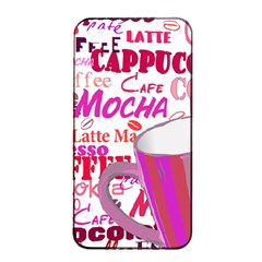Coffee Cup Lettering Coffee Cup Apple Iphone 4/4s Seamless Case (black)