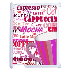Coffee Cup Lettering Coffee Cup Apple Ipad 2 Case (white)