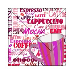 Coffee Cup Lettering Coffee Cup Acrylic Tangram Puzzle (6  X 6 )