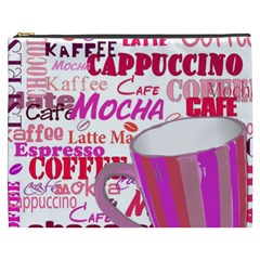 Coffee Cup Lettering Coffee Cup Cosmetic Bag (xxxl)