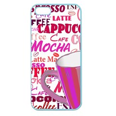 Coffee Cup Lettering Coffee Cup Apple Seamless Iphone 5 Case (color)