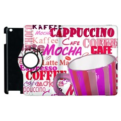 Coffee Cup Lettering Coffee Cup Apple Ipad 3/4 Flip 360 Case