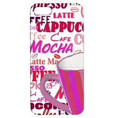 Coffee Cup Lettering Coffee Cup Apple Iphone 5 Hardshell Case With Stand