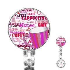Coffee Cup Lettering Coffee Cup Stainless Steel Nurses Watch
