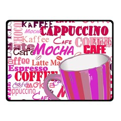 Coffee Cup Lettering Coffee Cup Double Sided Fleece Blanket (small)