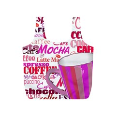 Coffee Cup Lettering Coffee Cup Full Print Recycle Bags (s)