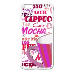 Coffee Cup Lettering Coffee Cup Apple Iphone 6 Plus/6s Plus Enamel White Case