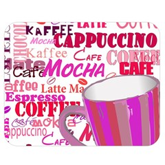 Coffee Cup Lettering Coffee Cup Double Sided Flano Blanket (medium)