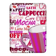 Coffee Cup Lettering Coffee Cup Samsung Galaxy Tab 4 (10 1 ) Hardshell Case