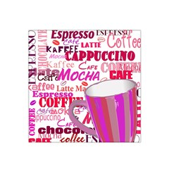 Coffee Cup Lettering Coffee Cup Satin Bandana Scarf