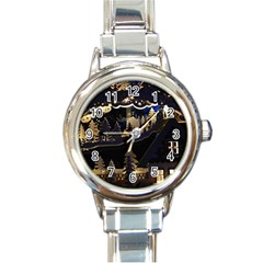Christmas Advent Candle Arches Round Italian Charm Watch