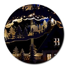 Christmas Advent Candle Arches Round Mousepads