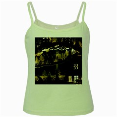Christmas Advent Candle Arches Green Spaghetti Tank