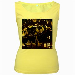Christmas Advent Candle Arches Women s Yellow Tank Top