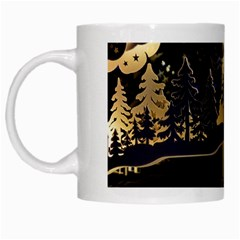 Christmas Advent Candle Arches White Mugs