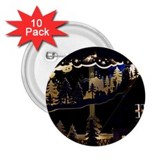 Christmas Advent Candle Arches 2 25  Buttons (10 Pack)