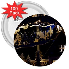 Christmas Advent Candle Arches 3  Buttons (100 Pack)