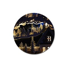Christmas Advent Candle Arches Magnet 3  (round)