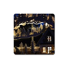 Christmas Advent Candle Arches Square Magnet