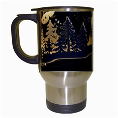 Christmas Advent Candle Arches Travel Mugs (white)